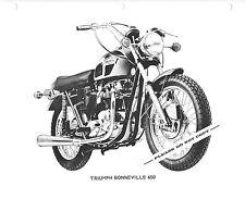 RARE ORIGINAL 1971 TRIUMPH MOTORCYCLE FACTORY PHOTO BONNEVILLE 650 T120R