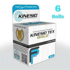 KINESIO FP Tape -  6 Rolls (5m each) BLUE Kinesiology for Injuries & Support