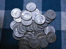 ROLL 90% SILVER WASHINGTON QUARTERS-$10 FACE VALUE - 40 COINS