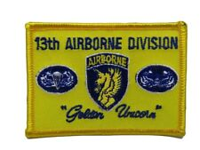 U.S. Military 13th Airborne Golden Unicorns Flag Iron On Patch
