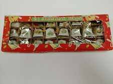 20 Vintage Miniature Porcelain Christmas Bells Bible, Lantern, & Candle Japan
