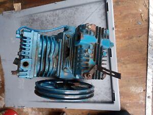 EMGLO MGU Air Compressor Pump Head, 2 Cylinder, 2 Groove Flywheel, Working