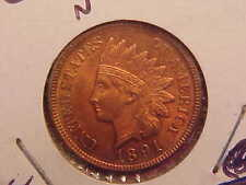 1891 P INDIAN HEAD CENT - 4 DIA/CLEANED - UNC - SEE PICS! - (N4207)