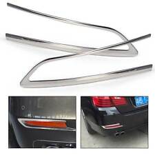 Pair Rear Fog Light Lamp Cover Trim fit for BMW 5 Series F18 F10 2011-2015