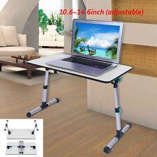 Universal Laptop Table Office Standing Desk Home Snack Breakfast Tray Grey UK