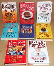 8 HARDCOVER BOOKS BY DIANE MOTT DAVIDSON CHOPPING SPREE FATALLY FLAKY DARK TORT