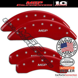 MGP Caliper Brake Cover Red 15211SMGPRD Front Rear For Audi A6 2017-2018