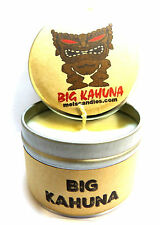 Big Kahuna 4oz Tin Soy Candle- Easy to take any where, great gift Sun tan lotion