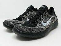 Nike Free Run RN Flyknit 2018 Running Shoes Oreo Moon BQ8449-200 Women's Sz 10.5