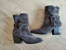 Paul Green Suede Water Resistance Ankle Boot Tassels Booties Shoe 8 US MSRP $450