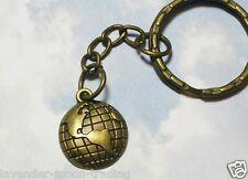 BRONZE GLOBE OF THE WORLD KEYRING/Keychain/bag charm