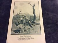 Antique Book Print - Omar the Optimist - WWI - 1917