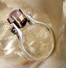 Silberring 58 Rosenquarz Rosa Rubin Granat Rot Elegant Design Silber Ring