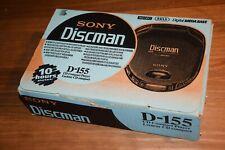 Vintage Discman sony D-155 neuf dans sa boite, lecteur CD portable