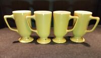 4 Vintage Homer Laughlin Restaurant Ware Irish Coffee Mug Cup Set
