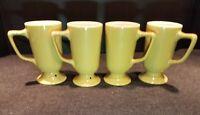 4 Vintage Homer Laughlin Restaurant Ware Irish Coffee Mug Cup Set