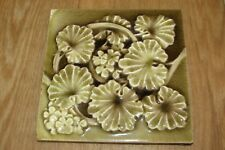 Vintage Antique ENCAUSTIC TILE CO. Glazed Floral Tile #1231