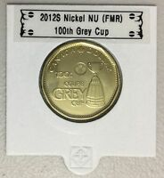 CANADA 2012 New 1$ LOONIE 100th Grey Cup (BU directly from mint roll)