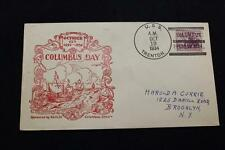 NAVAL COVER 1934 SHIP CANCEL COLUMBUS DAY CACHET USS TRENTON (CL-11) (15)