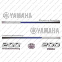 Yamaha 200HP Four Stroke Outboard Engine Decals Sticker Set reproduction 2013