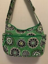 Gently Used! Vera Bradley Medium Quilted Green Shoulder Purse - Free Shipping