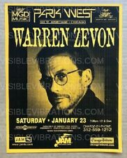 Warren Zevon Concert Poster Chicago 1990