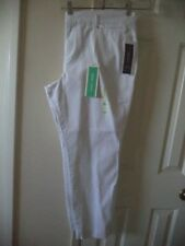 Great Basic! Old Navy Stay White Pixie Chino Ankle Length Stretch Pant XL 16 Reg