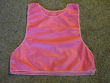 Mesh Team Scrimmage Practice Jersey Football  Soccer Hockey  PINK