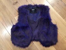Esprit fake fur purple gilet / waistcoat Size 8 - Worn Once!