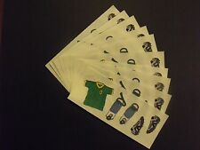 "Creative Memories ~ 2"" x 5""  Stickers ~ Soccer Shirt - Pads - Shoes - Lot of Ten"