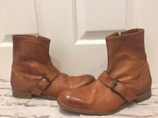 Quality H By Hudson Boots Gorgeous Tan Men's Boots Uk8 EU41 Zip Fastening VGC