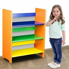 Kids Children Bookcase Wooden Book Shelf Bookshelf Unit Toy Storage Stand
