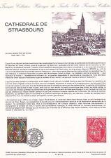Document philatélique 15-85 1er jour 1985 Cathédrale de Strasbourg