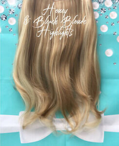 """18"""" BLEACH/HONEY BLONDE WAVY HEXY WIRE SYNTHETIC HAIR EXTENSIONS #27/613 FLICK"""