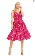 Looking Glam 50s Retro Swing Dress 18 Vintage Rockabilly Pin Up Landgirl Party