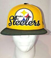 NFL New Era Pittsburgh Steelers Yellow Embroidered Hat Fitted Baseball Cap 7 3/8