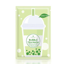 [ANNIE'S WAY] Green Tea Oil Balancing Soothing Bubble Tea Facial Mask 5pcs NEW