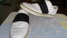 Puma Fashion Leather sneakers White Black Strap Slip On size 11.5 comfortable