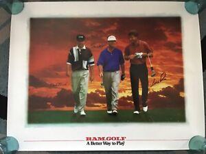 RAM GOLF Poster. Tom Watson, Nick Price & Mark Brooks.  24x31 inches
