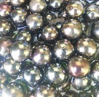 100 Glasperlen Glaskugeln Gold Glasmurmeln Schillernd Insektentränke Kugeln
