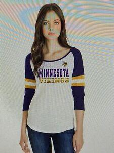 Minnesota Vikings NFL Women's New Era 3/4 Sleeve Tee Size Large - NWT