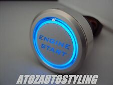 Push Button Engine START SWITCH  KIT CAR, BOAT,BIKE <<BLUE LED>>