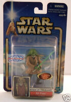 Star Wars AOTC Kit Fisto Figure Hasbro 2002
