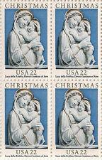 US 2165 Christmas Genoa Madonna 22c block MNH 1985