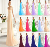 New Elegant One shoulder Bridesmaid Dress Formal Evening Dress Size UK 6 -20