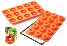 STAMPO IN SILICONE 15 SMALL DONUTS CIAMBELLE LINEA FANCY  FUNCTION di SILIKOMART