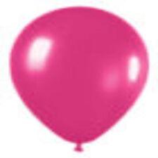 "12 Crystal Fuchsia Latex Balloons Helium Grade 11"""