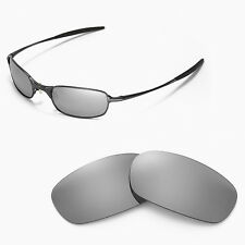 New Walleva Polarized Titanium Replacement Lenses For Oakley Square Wire 2.0