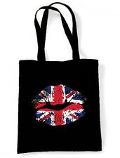 UNION JACK LIPS SHOULDER BAG - United Kingdom England Flag Holiday UK Shopping