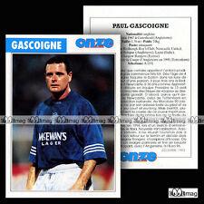 GASCOIGNE PAUL (LAZIO, GLAGOW RANGERS) - Fiche Football 1995